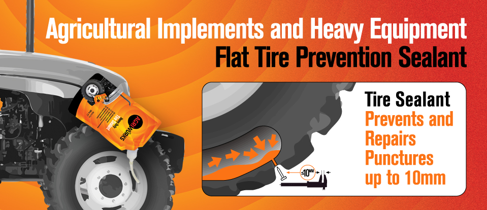 Heavy Equipment Flat Tire Prevention Sealant